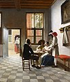 Pieter de Hooch (1629–1684), Cardplayers in a Sunlit Room, 1658.jpg
