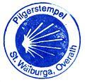 Pilgerstempel der Katholischen Pfarrkirche Sankt Walburga in Overath.jpg