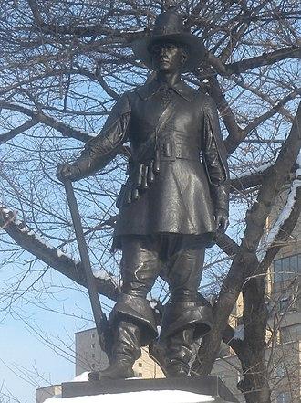 John Quincy Adams Ward - Image: Pilgrim Central Park snow jeh