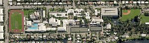 Pine Crest School - Aerial View of the Pine Crest campus in Fort Lauderdale as of 2009.