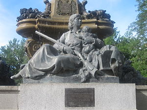 "Denver - ""Pioneer Mothers of Colorado"" statue at The Denver Post building"