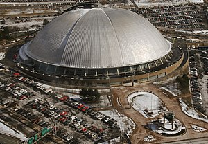 Pittsburgh Penguins - The Civic Arena's capacity was increased in order to meet NHL requirements for a franchise. The arena served as the Penguins' home arena from 1967 to 2010.