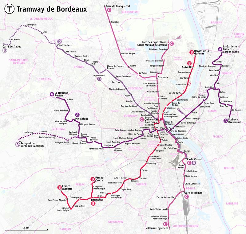 Carte Tbm Bordeaux.Carte Tbm Carte