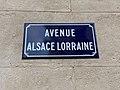 Plaque Avenue Alsace Lorraine - Bourg-en-Bresse (FR01) - 2020-09-16 - 2.jpg