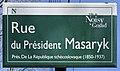 Plaque Rue Président Masaryk - Noisy-le-Grand (FR93) - 2021-04-24 - 1.jpg