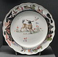 Plate, c. 1740, Meissen, hard-paste porcelain, overglaze enamels, gilding - Gardiner Museum, Toronto - DSC00925.JPG