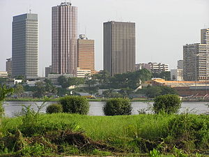 Economy of Ivory Coast - Abidjan is one of the financial centers in Côte d'Ivoire and West Africa.