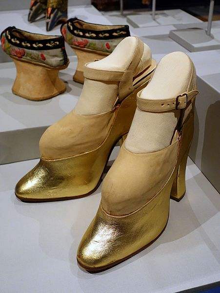 File Platform Shoes Worn By Mae West 1950s Ad Wood