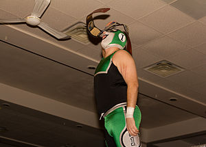 Player Uno - Player Uno as Alpha-1 Wrestling Tag Team Champion.