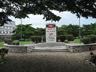 History of Burundi - Independence Square and monument in Bujumbura.