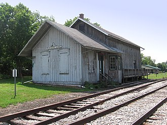 Pleasant Lake, Indiana - Although no longer in use, the Pleasant Lake Depot is on the National Register of Historic Places listings in Steuben County, Indiana.