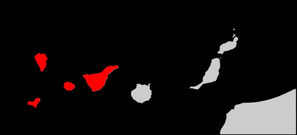 Plecotus teneriffae range Map