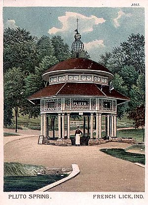 """French Lick, Indiana - """"Pluto Spring"""", French Lick, 1903"""