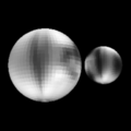 Pluto & Charon (Sub-earth 9 degrees latitude, 281 degrees longitude).png