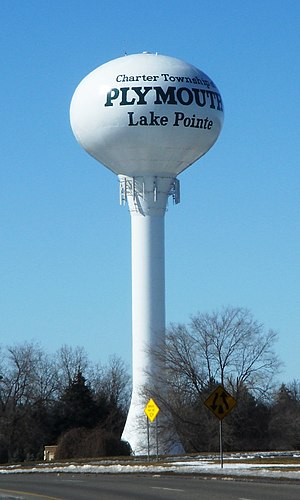 Plymouth Township, Michigan - Plymouth Township water tower