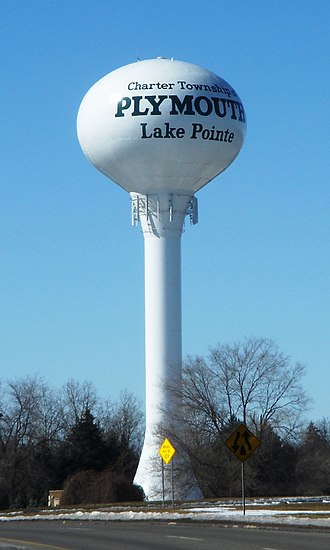 Plymouth Charter Township, Michigan - Plymouth Township water tower