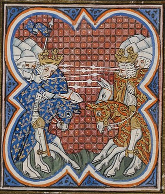 Edward the Black Prince - Battle of Poitiers, from the Grandes Chroniques de France