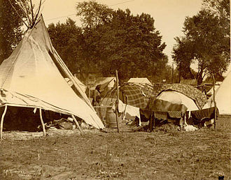 Indian Congress - Ponca Tribe encampment.