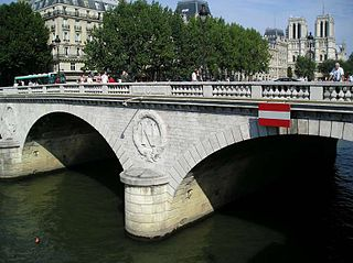 arch bridge in Paris, France