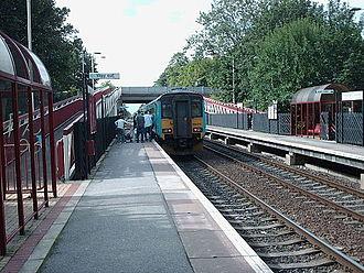 Pontefract Tanshelf railway station - The view from platform 1