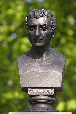 Samuel Linde - Image: Popiersie SB Lindego Powazki