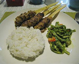 Sate Lilit - Image: Pork Sate Lilit Bali 1