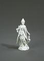 Porslin. Vit figurin föreställande Asien - Hallwylska museet - 89243.tif