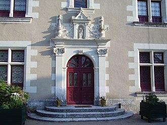 Château de Troussay - Door of the François I façade