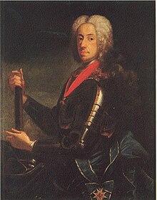 Kaiser Karl VII. im Harnisch; er trägt die Ordensschärpe von St.-Georg und die Ordenskette vom Goldenen Vlies (Quelle: Wikimedia)