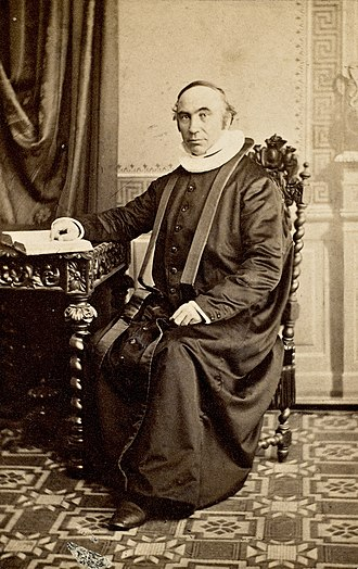 Jørgen Moe - Image: Portrett av Jørgen Moe (1813 1882), ca 1865 (6943180639)
