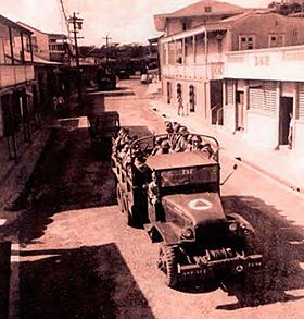 65th Infantry Troops Convoyed Through Isabel Segunda For PORTREX