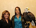 Posing for picture with Bald Eagle. (10595671695).jpg