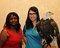 Posing for picture with Bald Eagle. (10597315213).jpg