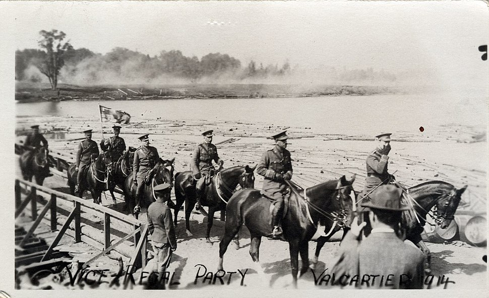 Postcard of Vice-Regal Visit to Valcartier Military Base 1914