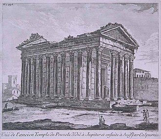 Pozzuoli Cathedral - 18th century reconstruction of the temple