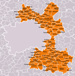 Municipalities of Prague-East District
