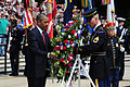 President Barack Obama prepares to place a wreath at the Tomb of the Unknowns during a Memorial Day ceremony May 27, 2013, at Arlington National Cemetery in Virginia 130527-A-ZI280-063.jpg