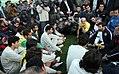 President Mahmoud Ahmadinejad, Iran's national football (soccer) team - 28 February 2006 (22 8412090596 L600).jpg