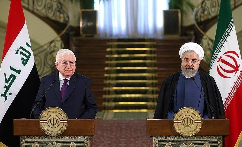 President Rouhani with Iraqi President Fuad Masum in Saadabad Palace 4