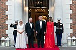 President Trump and First Lady Melania Trump at Winfield House (48007958901).jpg