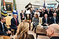 President Trump and the First Lady Visit with the Prime Minister of the Hellenic Republic and Mrs. Mareva Grabowski-Mitsotakis (49351247896).jpg