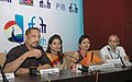 Press conference by Nana Patekar, Actor, Sonali Kulkarni, Actress and Samruddhi Porey, Director of Marathi film 'DR. PRAKASH BABA AMTE', at the 45th International Film Festival of India (IFFI-2014), in Panaji, Goa.jpg