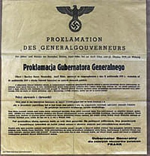Official proclamation of General-Gouvernement in Poland by Germany, October 1939