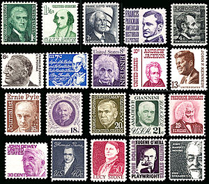 Prominent Americans series - Highly diverse lettering and drawing styles mark the Prominent Americans series.