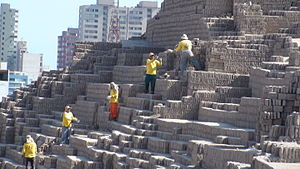 Conservation and restoration of archaeological sites - Huaca Pucllana Reconstruction Effort