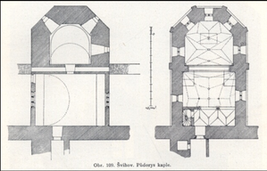 Švihov Castle - Ground plan (chapel)