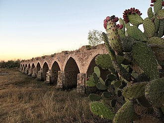 Camino Real de Tierra Adentro - Bridge of Ojuelos in the state of Jalisco, part of the Camino Real de Tierra Adentro, a declared UNESCO World Heritage Site along with 59 other sites on the route.