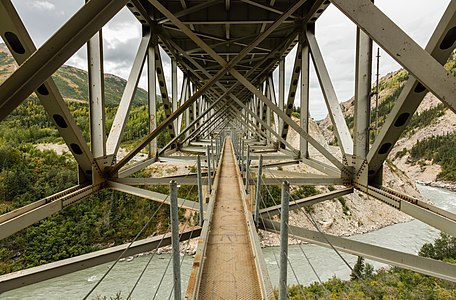 Bridge over the Nenana River, Healy, Alaska, United States