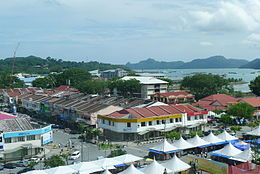 A view of Kuah town, the commercial centre of Langkawi Island