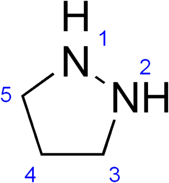 Pyrazolidine - Image: Pyrazolidine numbering